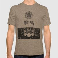 Prāṇa (Life Force) Mens Fitted Tee Tri-Coffee SMALL