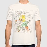 my back porch Mens Fitted Tee Natural SMALL