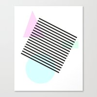 Pastel Shapes With Lines Canvas Print