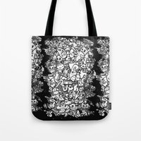 Misspent Youth Watercolor Doodle Tote Bag