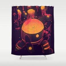 Super Heroic Pose Shower Curtain