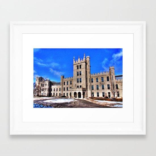 Northern Illinois University Castle - HDR Framed Art Print