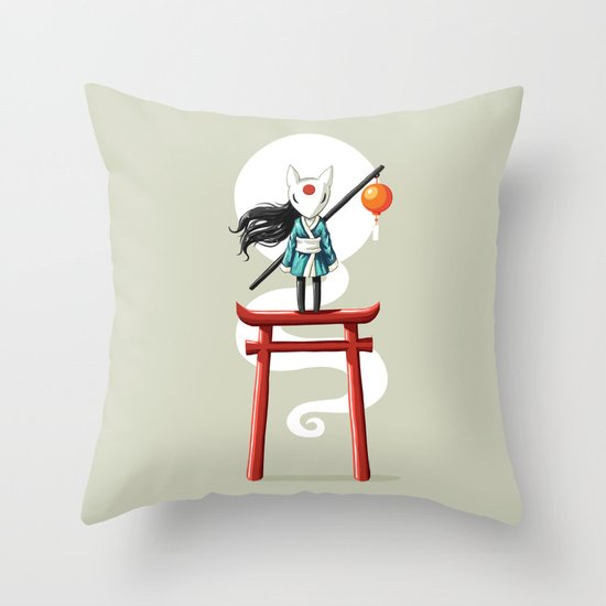 Torii 2 Throw Pillow