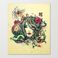 Beauty Before Death Canvas Print