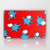 Stars (Blue & White on Red) Laptop & iPad Skin