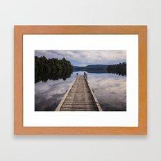 Mapourika Lake Framed Art Print