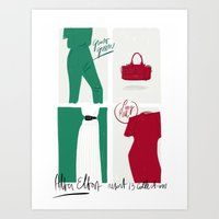 #theSliceSerie: It's all about Grass Green and Poppy Red Art Print
