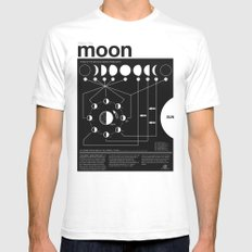 Phases Of The Moon Infog… Mens Fitted Tee White SMALL