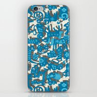 chinese animals blue iPhone & iPod Skin