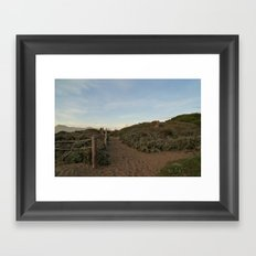peeking gold Framed Art Print