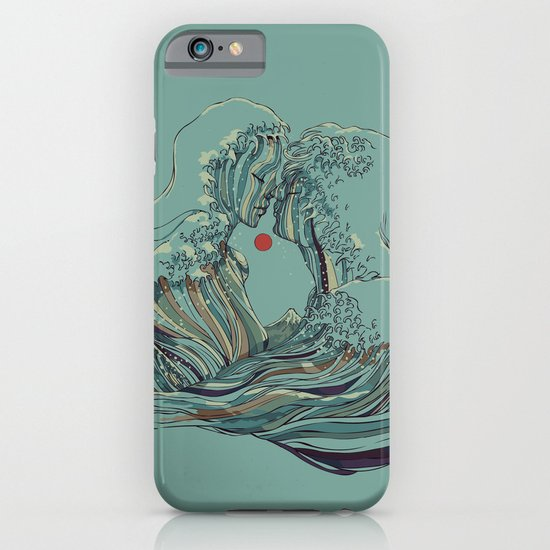 Kissing The Wave iPhone & iPod Case