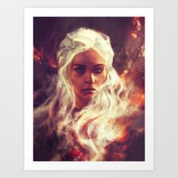 dragon Art Prints featuring Fireheart by Alice X. Zhang