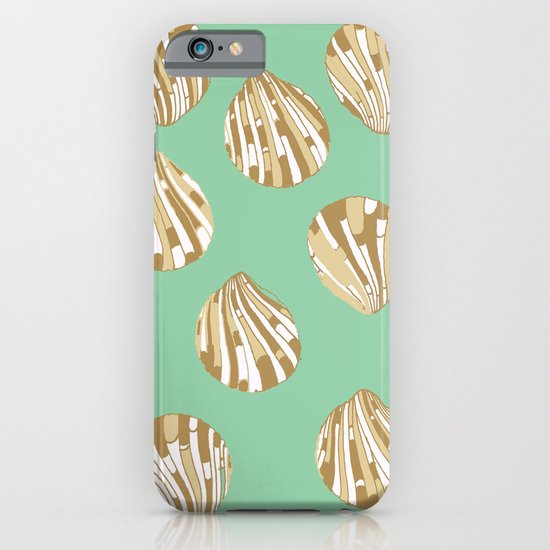 Scallop Shells in Green iPhone & iPod Case