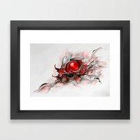 Abstraktus 6 red Framed Art Print