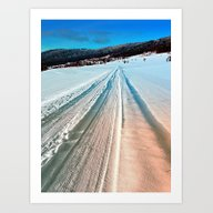 Winter Road Into The Mou… Art Print