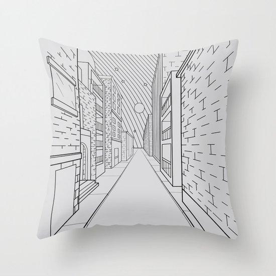 Cosmos City Throw Pillow