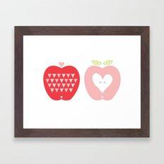 Two Apples Framed Art Print