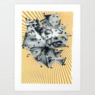 Art Print featuring Marilyn Cut Up by Karen Constance Coll…