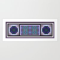 Lacy Print with Medallions Art Print
