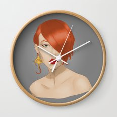 Posh in Space Wall Clock
