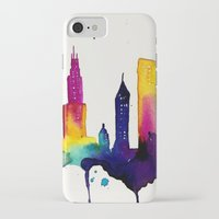 chicago iPhone & iPod Cases featuring Chicago  by Talula Christian