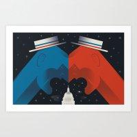 Debate Art Print