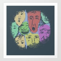 The Different Moods Art Print