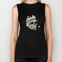 Planet Space Skull  Biker Tank