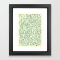 Green and Yellow Leaves Framed Art Print