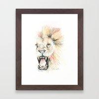 Savage Lion Framed Art Print