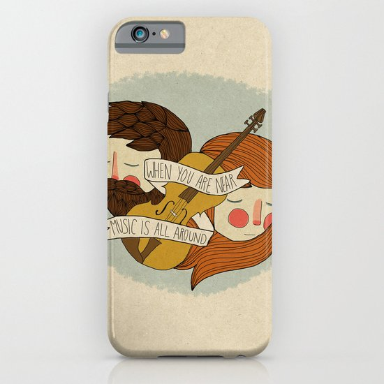 Music Is All Around iPhone & iPod Case