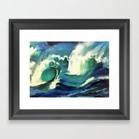 Going With The Flow Ocea… Framed Art Print