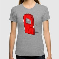 The Mediocre Entrance Of… Womens Fitted Tee Tri-Grey SMALL