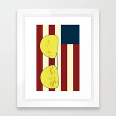 Flag Phone Case Framed Art Print