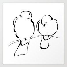 Bird Couple Art Print