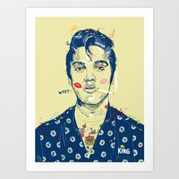 WTF? ELVIS MORNING PARTY Art Print