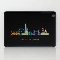 London Skyline Black iPad Case