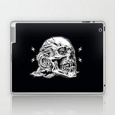 Skullflower Black and White  Laptop & iPad Skin
