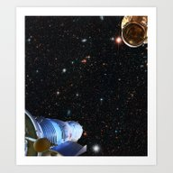 Art Print featuring Lost In Space by Anipani