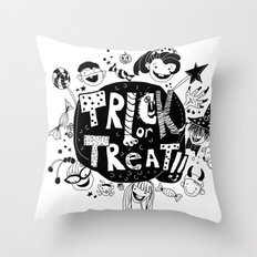 For Halloween - Trick or treat Throw Pillow