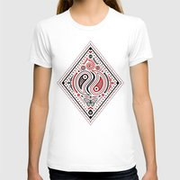 83 Drops - Diamonds (Red… Womens Fitted Tee White SMALL