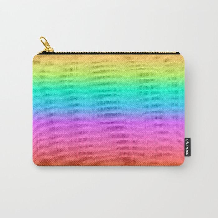 rainbow pastel clutch bag purse makeup pouch