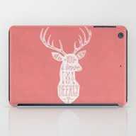 I LOVE YOU DEER - PINK iPad Case