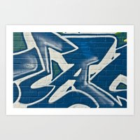 Bristol Graffiti 01 Art Print