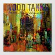 Wood Tanks Canvas Print