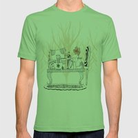 Fall Mens Fitted Tee Grass SMALL
