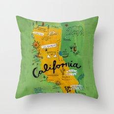 Postcard from California Throw Pillow