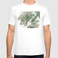 Yoda Mens Fitted Tee White SMALL