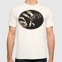 The Guitar Player Mens Fitted Tee Natural SMALL
