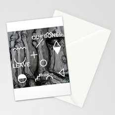 Our bones leave messages Stationery Cards